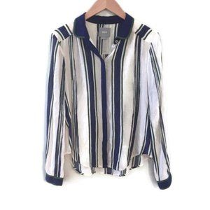 ANTHROPOLOGIE MAEVE Striped button down Blouse